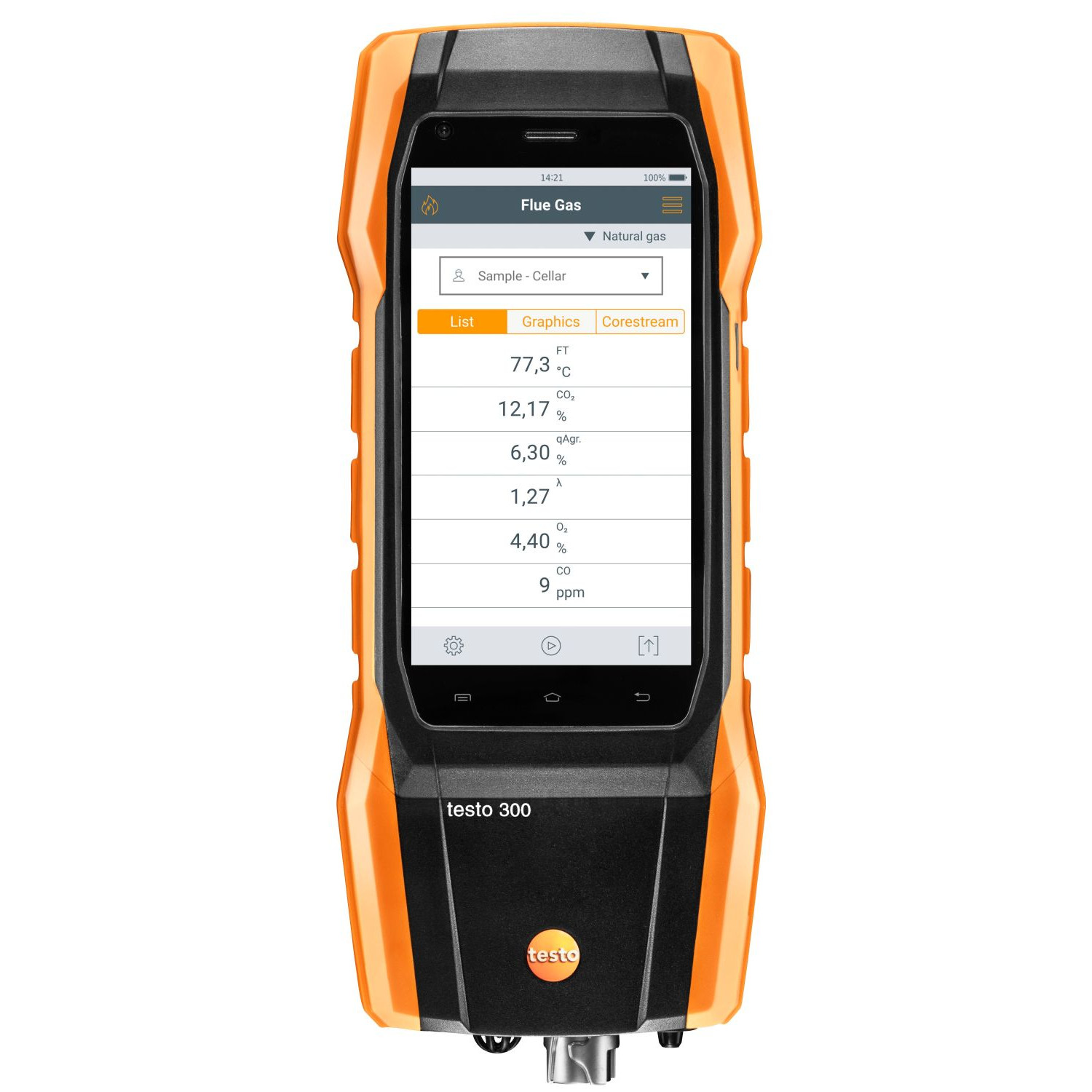 Testo 300 - Analyseur de combustion (O2, CO jusqu'à 4 000 ppm)